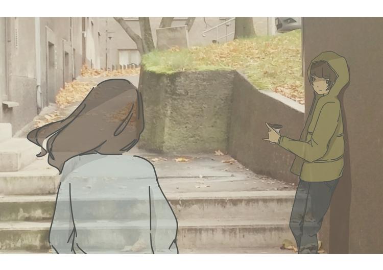 Hey - illustration, digitalart, drawing - goree | ello