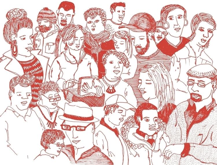 Pondering people - figure, figuredrawing - nanu_illustration | ello