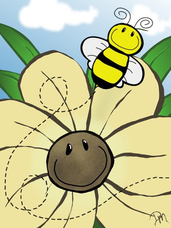 beautiful summer day - bee, flower - dmerchen | ello