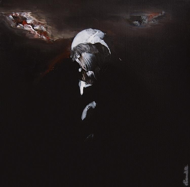 painting, portrait, dark, expressionism - fabienclaude | ello