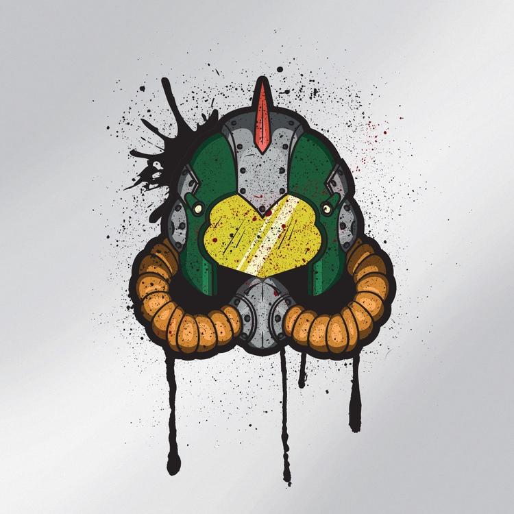 Post-Apocalyptic style helmet,  - rhinodillodesigns   ello