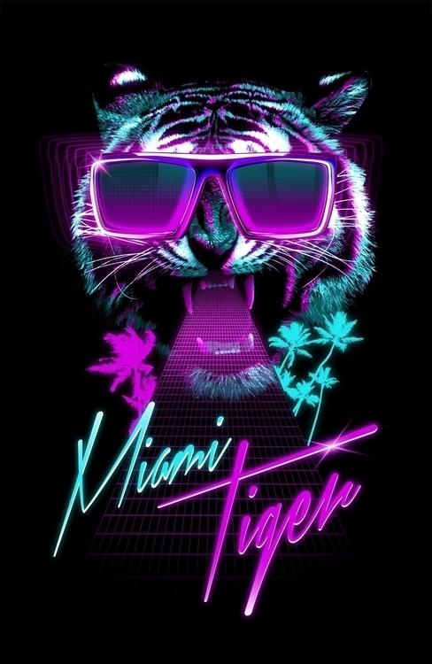 Miami Tiger - retro, retrospace - astronaut-6456 | ello