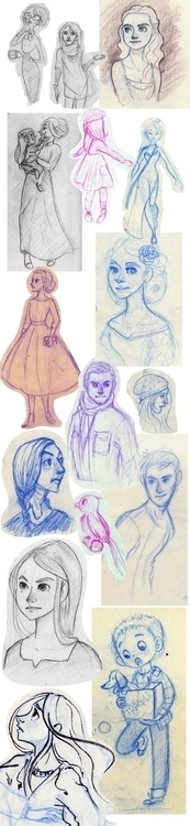 Sketches 2014-2015  - sketch, drawing - ladyalouette | ello