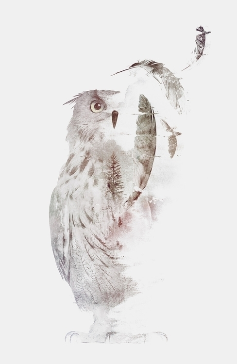 owl, nature, watercolor - astronaut-6456 | ello