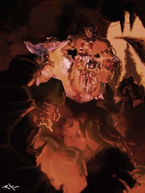 Warcraft - conceptart, gameart, #WOW - rodrigofernandes-7444 | ello