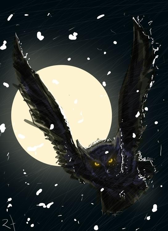 owl, drawing - rodrigofernandes-7444 | ello