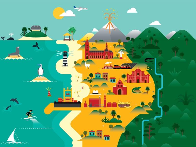 Ecuador Map illustration - ecuador - kursatunsal | ello