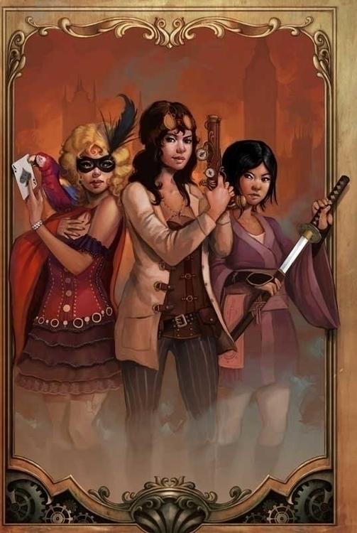 bookcover, steampunk, heroine - rudyfaber | ello