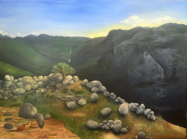 painting mountains put abstract - kristagill | ello