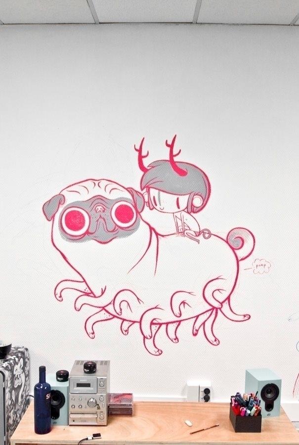 centipug - pug, dog, character, graffiti - yoii | ello