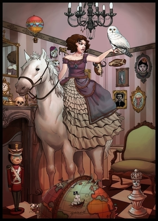 room, victorian, surreal, horse - rudyfaber | ello