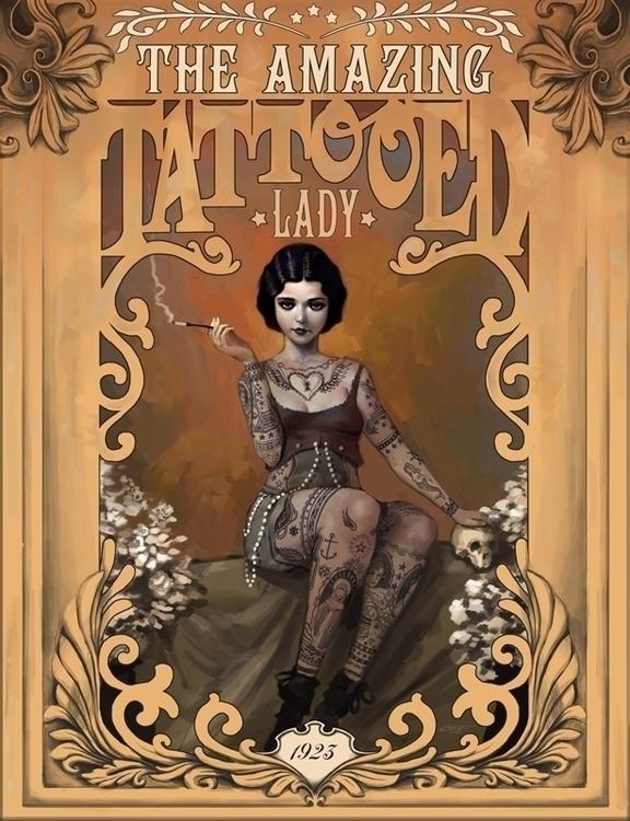 tattooedlady, tattoo, vintage - rudyfaber | ello