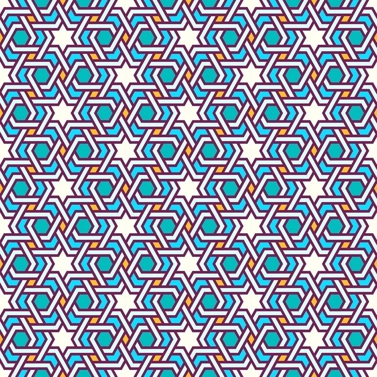Tangled oriental pattern - seamless - slanapotam | ello