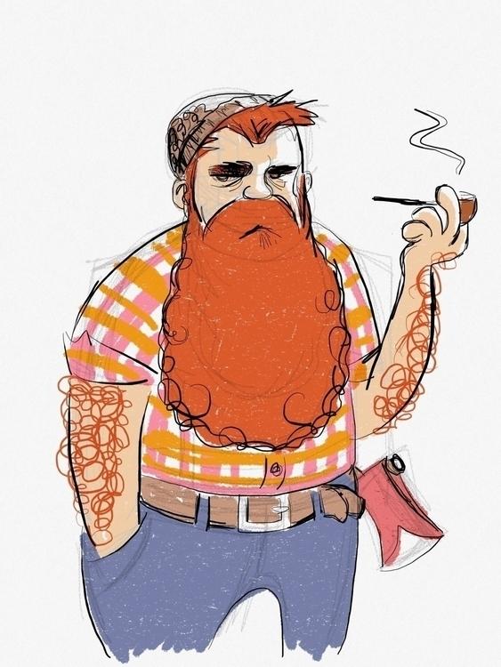 disillusioned woodsman - characterdesign - zenink | ello