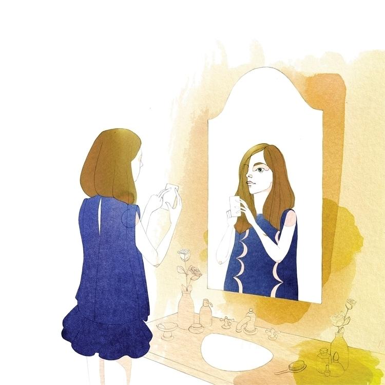Antea mirror - illustration, fashion - camillalocatelli | ello