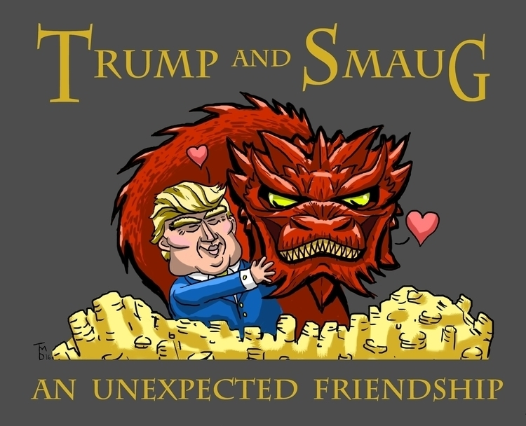 Donald Trump Smaug Dragon Broma - tduffyworld | ello