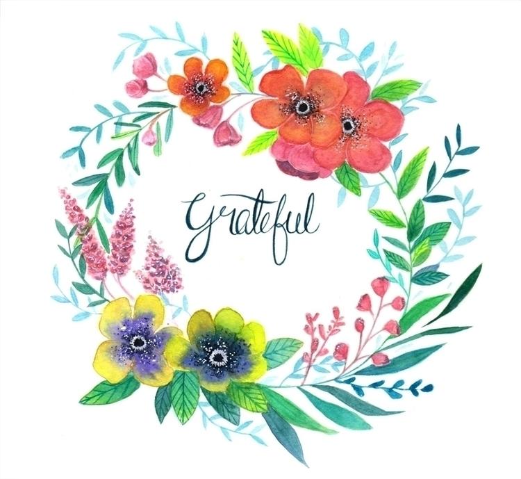Grateful. Watercolours 2015 - illustration - hsieying | ello