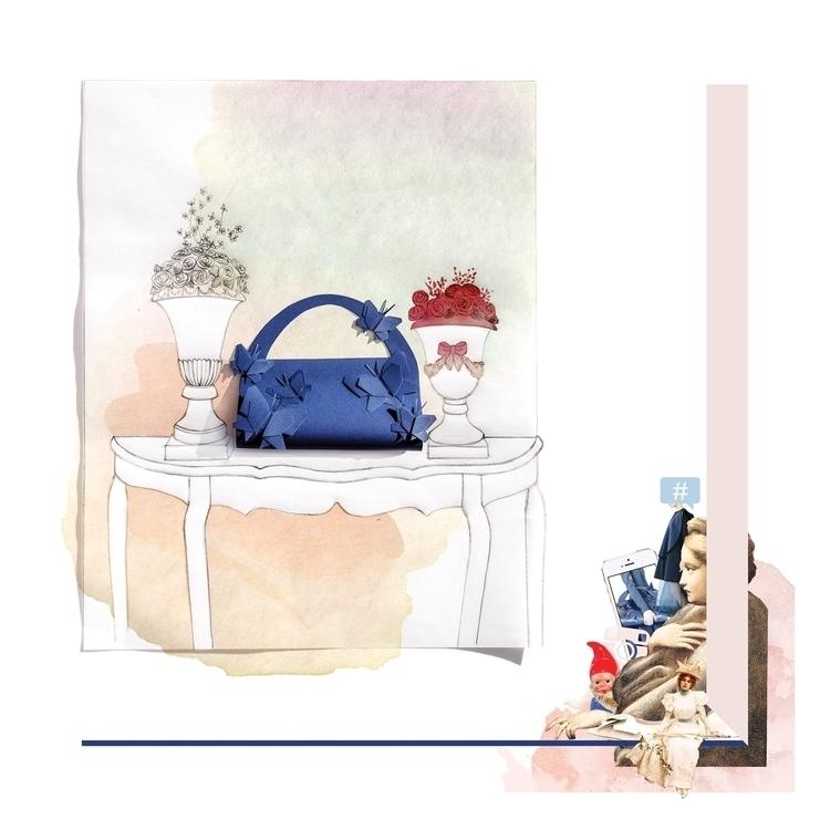 Blue butterflies - illustration - camillalocatelli | ello