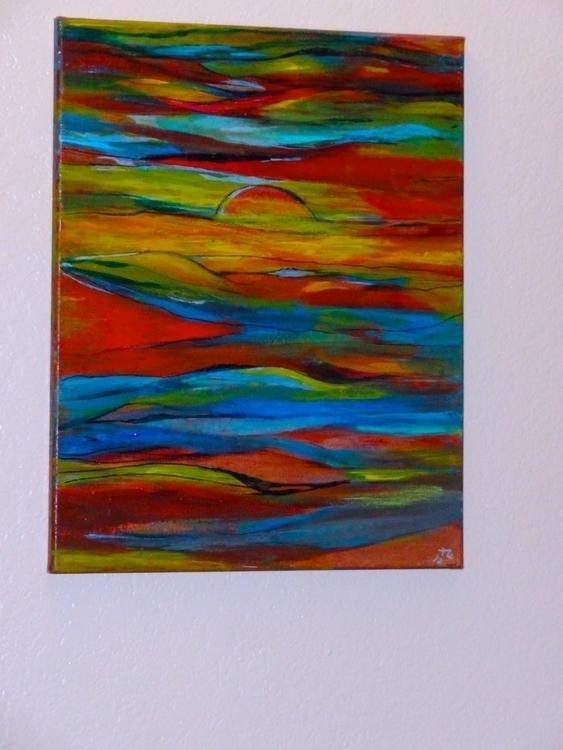 Arizona Sunset Acrylic Canvas - painting - lindawilliams   ello