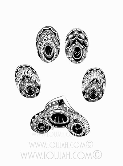 Cat Paw Print - illustration, drawing - loujah | ello