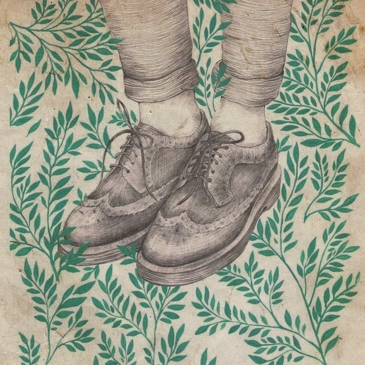 shoes - drawing, retro - oh_xeni | ello