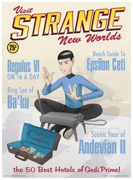 Spock Travel Poster - illustration - alarmingfiend | ello