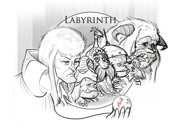 Labyrinth - illustration, drawing - darrenlewis | ello