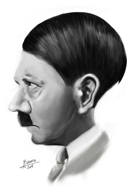 Hitler - illustration, painting - mahmoudosama-1421 | ello