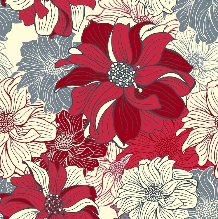 FLOWERS room - seamless pattern - slanapotam | ello
