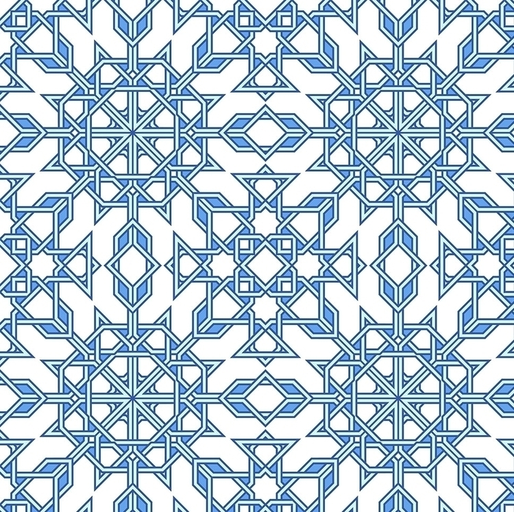 TANGLED GEOMETRY modern pattern - slanapotam | ello