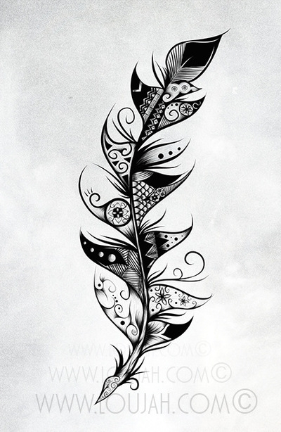 Feather - illustration, draw, drawing - loujah | ello