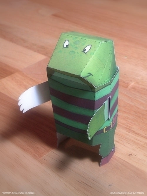 Paper Craft figure character we - alarmingfiend | ello