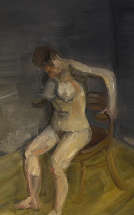 painting, nude, oilpainting, oilpaint - orduzleon | ello