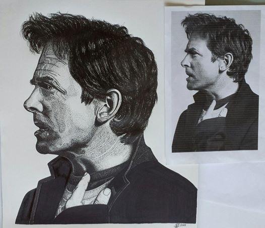 MJF Portrait created Fine-line  - stevenhart | ello