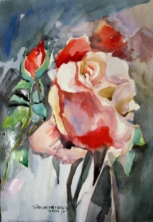 Die Rose - painting, illustration - vitalic-1248   ello