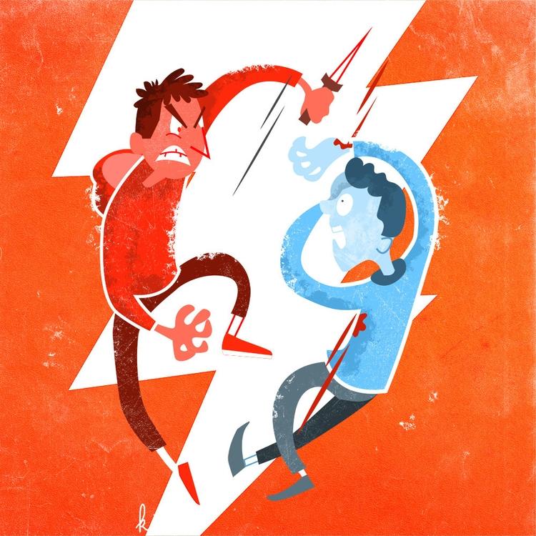 Violence youths - illustration, violence - ktoons | ello