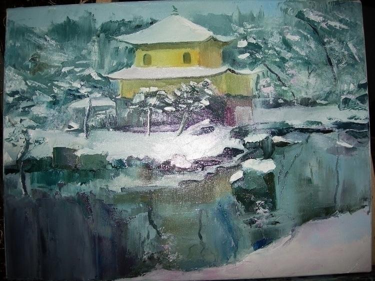 Golden Pavilion - painting, illustration - vitalic-1248 | ello