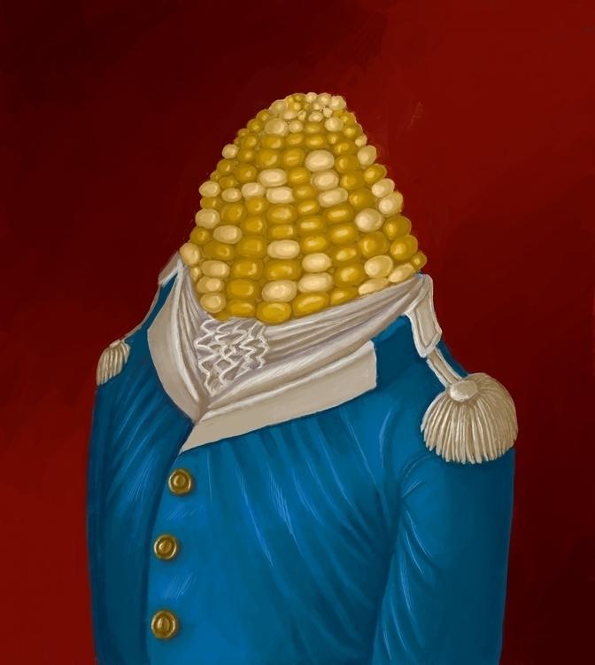 Colonel Kernel - corn, colonel, digitalart - fionaostby | ello