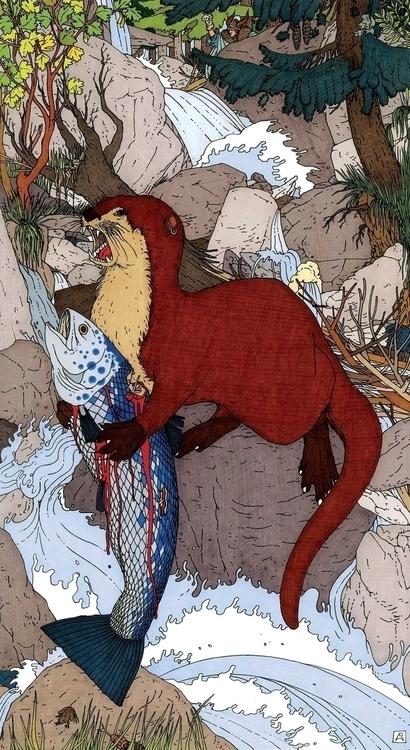 La Lontra - illustration, drawing - gabriele-8497 | ello