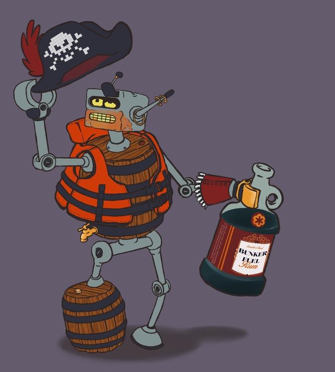 Pirate Robot - pirate, robot, futurama - brunodesn | ello