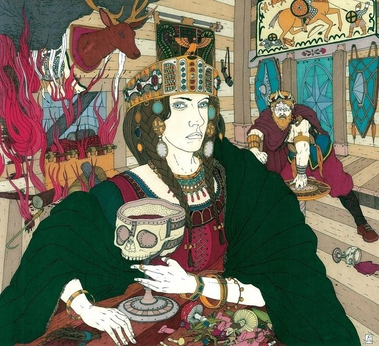 La vendetta di Gudhrun - illustration - gabriele-8497 | ello