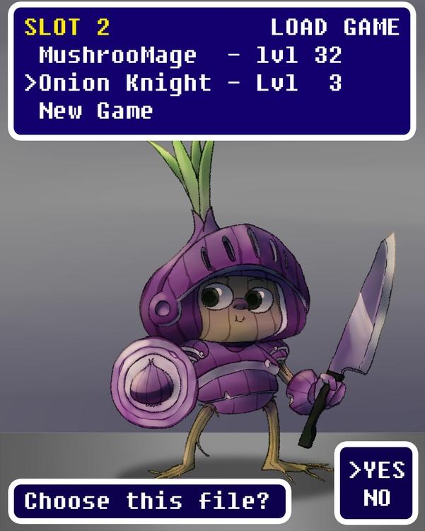 Onion Knight - onion, knight, jrpg - brunodesn | ello