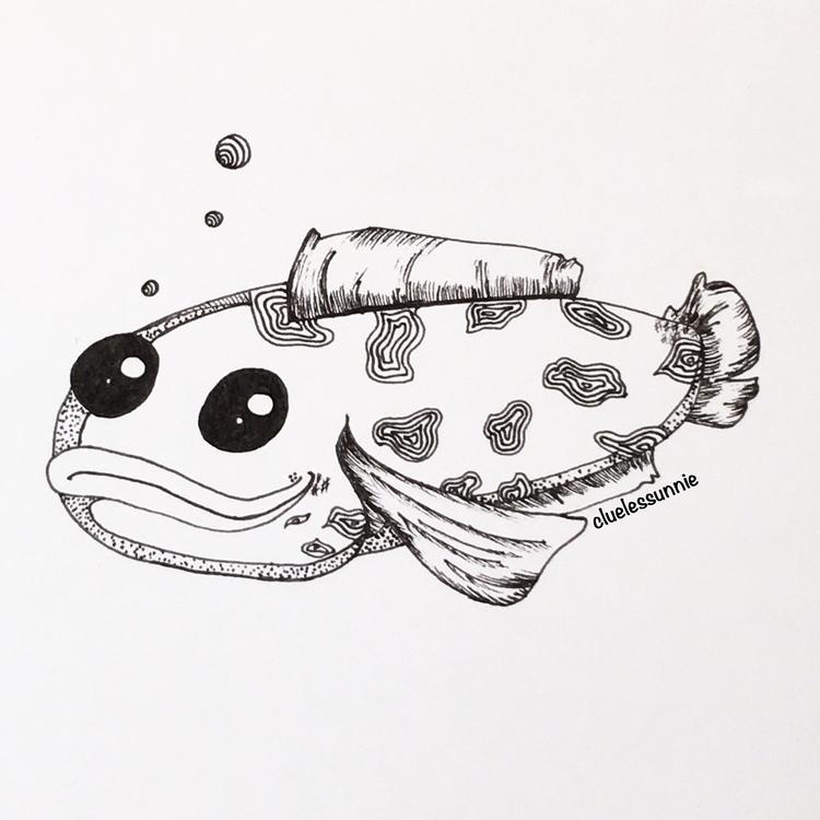 Fish - illustration, characterdesign - hanvone   ello