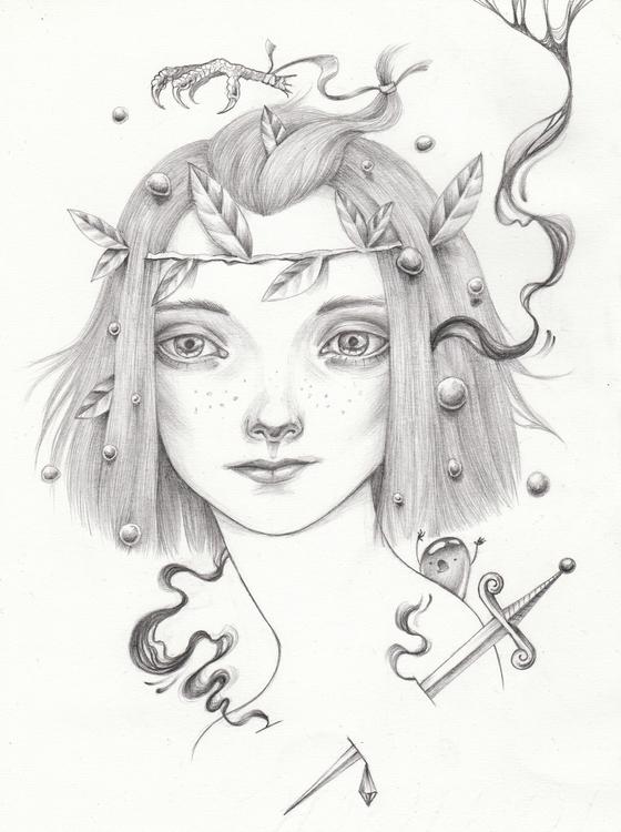 sword - illustration, characterdesign - shpadyreva | ello