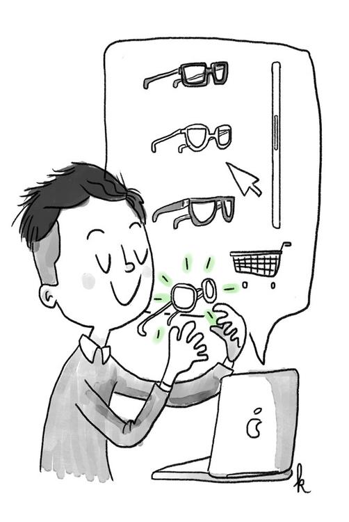Choosing specs online. convenie - ktoons | ello