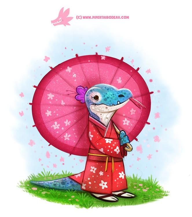 Daily Paint Kimono Dragon - 1194. - piperthibodeau | ello