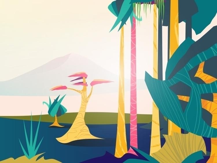 Enchanted Forest Entrance - illustration - ronx-6484 | ello