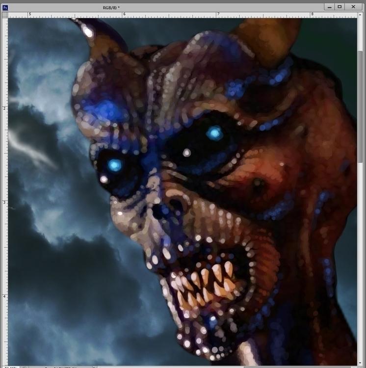 Satan Digital Painting RiffTrax - jasonmartin-1263 | ello