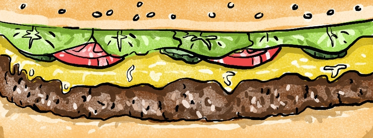 day burger day - illustration - ktoons | ello