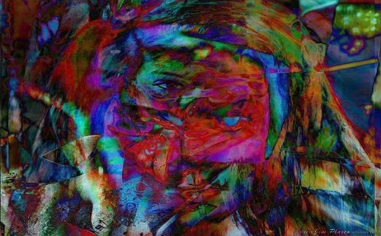 Confusion Faces Portrait Art mu - plaxco | ello